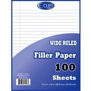 DDI Quadruled Filler Paper - 100 sheets- 10.5 in. x 8 in. Case Of 48 (DLRDY245908)