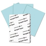 Springhill 8.5 x 11 Digital Index Color Card Stock, 110 lbs. - Blue (AZTY14827)