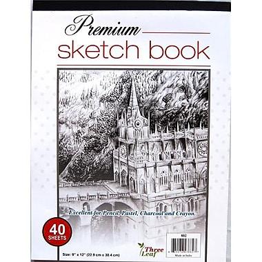 Three Leaf Premium Sketch Pad - 40 Sheets - 9 x 12 in. - Case of 48 (DLR330354)