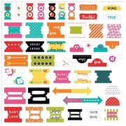 Dayspring Cards 47 Piece Bible Journaling - Tabbies - Bright & Brave (ANCRD82597)