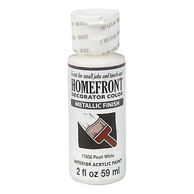 Homefront 17600 2 oz Pearl White Metallic Decorator Color Acrylic Paint Pack Of 3 (ACHR5019)