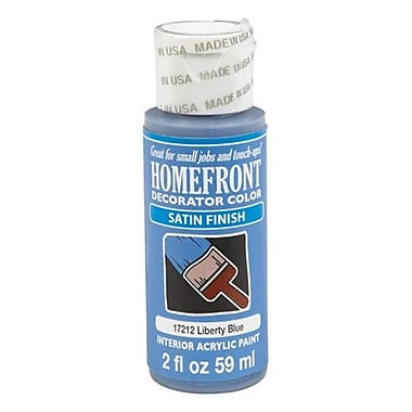 Homefront 17212N 2 oz Decoratior Interior Satin Acrylic Paint in Liberty Blue Pack Of 3 (ACHR4844)