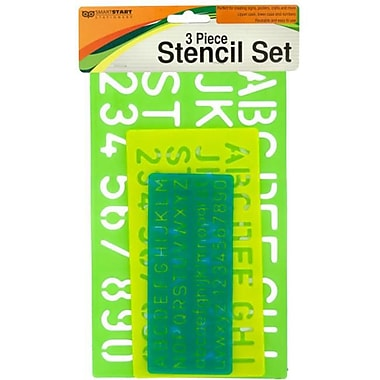 DDI Numbers & Letters Stencil Set, Case of 12 (DLR63341)