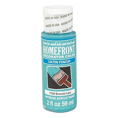 Homefront 17258 2 oz Emerald Lake Satin Decorator Color Acrylic Paint Pack Of 3 (ACHR5014)