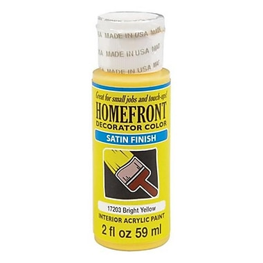 Homefront 17203N 2 oz Decoratior Interior Satin Acrylic Paint in Yellow Pack Of 3 (ACHR4840)