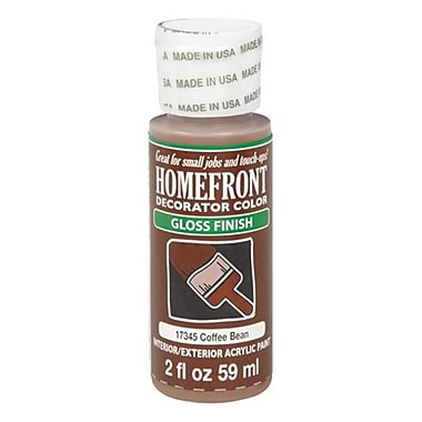 Homefront 17345 2 oz Coffee Bean Gloss Decorator Color Acrylic Paint Pack Of 3 (ACHR4913)