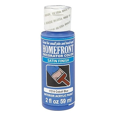 Homefront 17214N Decorator Interior Satin Acrylic Paint - 2 oz - Pack of 3 (ACHR20269)