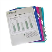 C-Line Products Ecological 5-Tab Poly Binder Index Dividers Assorted 5-PK - Set of 12 PK (CLNP025)