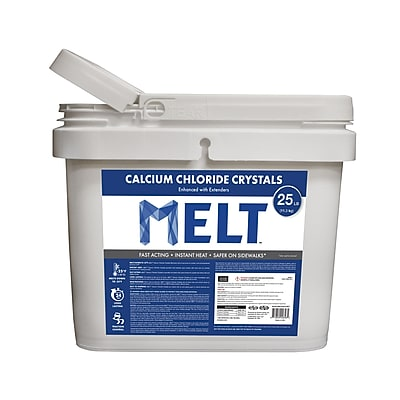 Snow Joe MELT Calcium Chloride Crystals Ice Melter 25 lb. Bucket (MELT50CC-BKT)