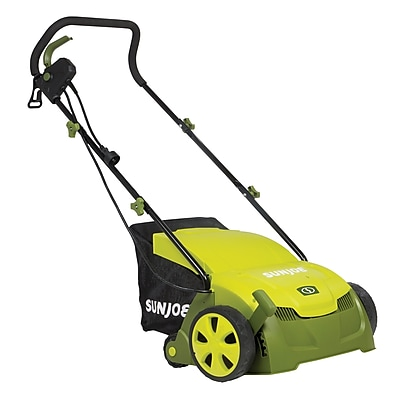 Sun Joe 13-Inch 12-Amp Electric Scarifier and Lawn Dethatcher w/ Collection Bag (AJ801E)
