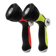 Sun Joe Aqua Joe One Touch Adjustable Hose Nozzle with Smart Throttle Control, Red/Green, 2-pack (AJHN100-2-RED)