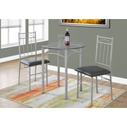 Monarch Specialties Dining Set Silver (I 1002)