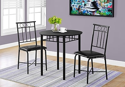 Monarch Specialties Dining Set Black (I 1013)