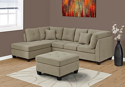 Monarch Specialties Sofa Taupe (I 83675TP)