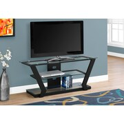 Monarch Specialties Modern Metal Framed Tv Stand Black (I 2588)