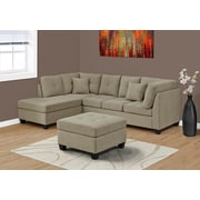 Monarch Specialties Club Chair Microfiber Ottoman Taupe (I 83676TP)