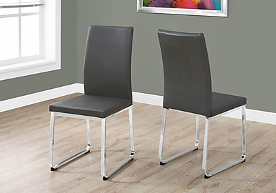 Monarch Specialties Dining Chair Grey (1094)