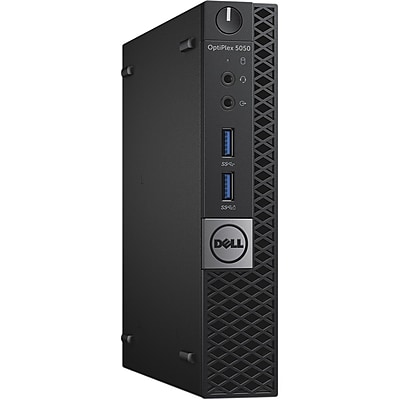 Dell Optiplex 5050 Intel Core i5-7500T X4 2.7GHz 8GB 256GB SSD Win10, Black (Certified Refurbished)