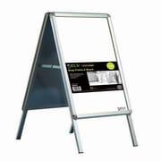 """Seco® Snap Frame A-Board Sidewalk Signs, 22"""" x 28"""", Silver (2228AB)"""