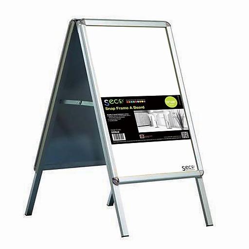 Seco Snap Frame A Board Sidewalk Signs 22 X 28 Silver 2228ab