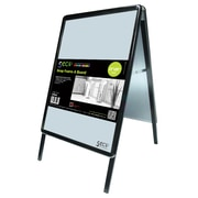 "Seco® Snap Frame A-Board Sidewalk Signs, 22 x 28"", Black (2228ABBLACK)"