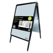 "Seco® Snap Frame A-Board Sidewalk Signs, 16.5"" x 23.4"", Black (A2ABBLACK)"