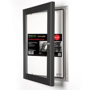 "Seco® Locking Indoor/Outdoor Poster Case Shatterproof Rustproof,  24""x 36"", Black (LCASE2436BLACK)"