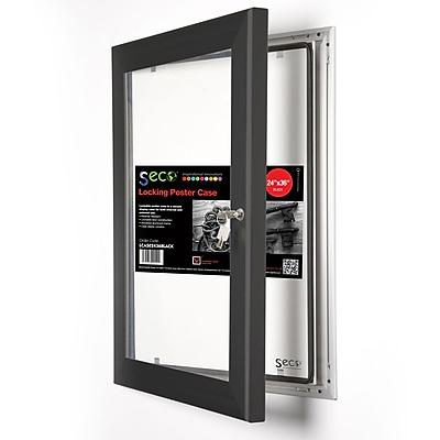 Seco® Locking Indoor/Outdoor Poster Case Shatterproof Rustproof, 24