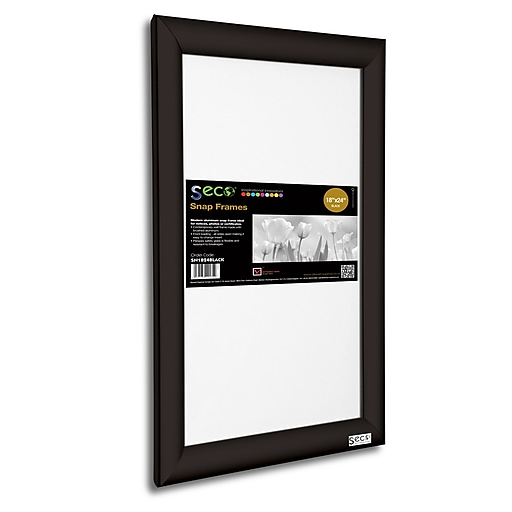Seco Front Load Easy Open Snap Poster Frame 18 X 24 Black