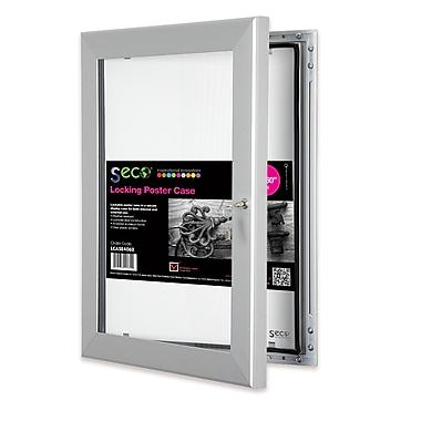 Seco® Locking Indoor/Outdoor Poster Case Shatterproof Rustproof, 40