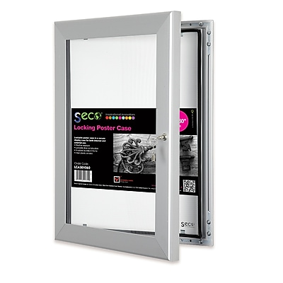Seco® Locking Indoor/Outdoor Poster Case Shatterproof Rustproof, 40