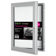 """Seco® Locking Indoor/Outdoor Poster Case Shatterproof, 18""""x 24"""",  Silver (LCASE1824)"""