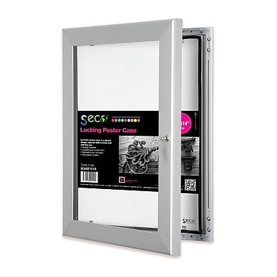 Seco® Locking Indoor/Outdoor Poster Case Shatterproof Rustproof, 11