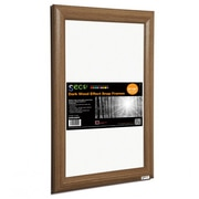 "Seco® Front Load Easy Open Snap Poster Frame, 24"" x 36"", Dark Wood Effect (SN2436DW)"