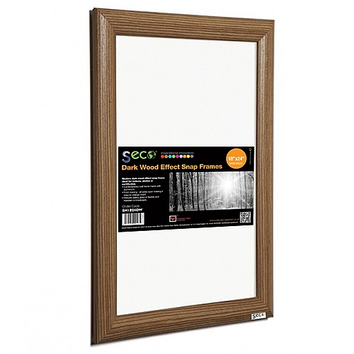 Seco® Front Load Easy Open Snap Poster Frame, 18\
