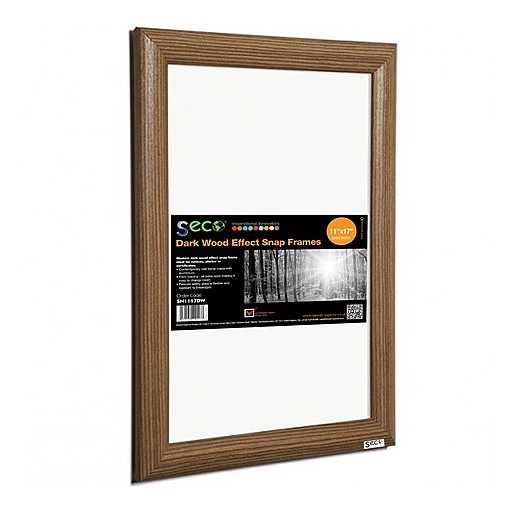 Seco® Front Load Easy Open Snap Poster Frame, 11\