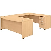 "Bush Business Furniture Studio C 71"" U-Shaped Desk Bundle, Natural Maple (STC004ACSU)"