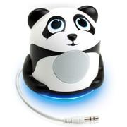 GOgroove Mini Cute Animal Battery Powered Portable Speaker with LED Night Light (Panda Pal Jr) (4496404)