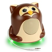 GOgroove Mini Cute Animal Battery Powered Portable Speaker with LED Night Light (Owl Pal Jr) (4496408)