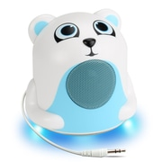 GOgroove Mini Cute Animal Battery Powered Portable Speaker with LED Night Light (Polar Bear Pal Jr) (4496407)