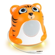 GOgroove Mini Cute Animal Battery Powered Portable Speaker with LED Night Light (Tiger Pal Jr) (4496409)
