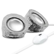 GOgroove Mini Clear USB Computer Speakers with LED Lighting (4333475)