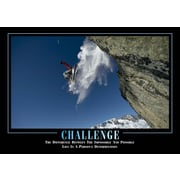 "SECO®  Stewart Superior ""Challenge"" Framed Motivational Poster, 29"" x 21.5"", Black Frame (MPI007)"