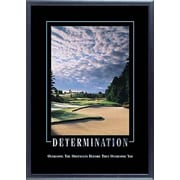 "SECO®  Stewart Superior ""Determination"" Framed Motivational Poster, 21.5"" x 29"", Black Frame (MPI1003)"