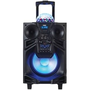"Naxa, 10"" Portable DJ/PA Speaker with Bluetooth & Disco Dome Light, Black, (NDS-1001)"