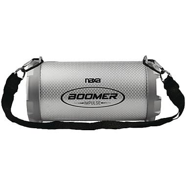 Naxa, Boomer Impulse Shine Bluetooth Boom Box with LED Lights, Gray, (NAS-3083)