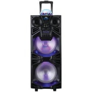 "Naxa, Dual 10"" Portable Bluetooth DJ/PA Speaker Stack with Disco Dome Light, Black, (NDS-1050)"