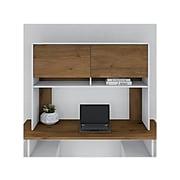 Bush Business Furniture Jamestown Contemporary Hutch, Fresh Walnut/White (JTH149FWWH)