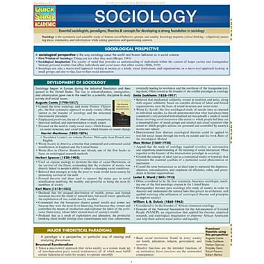 BarCharts Sociology by William Thompson (BARCH471)