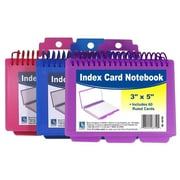 C-line Products Inc Assorted Spiral Bound Index Card Notebook With Tabs (JNSN57935)
